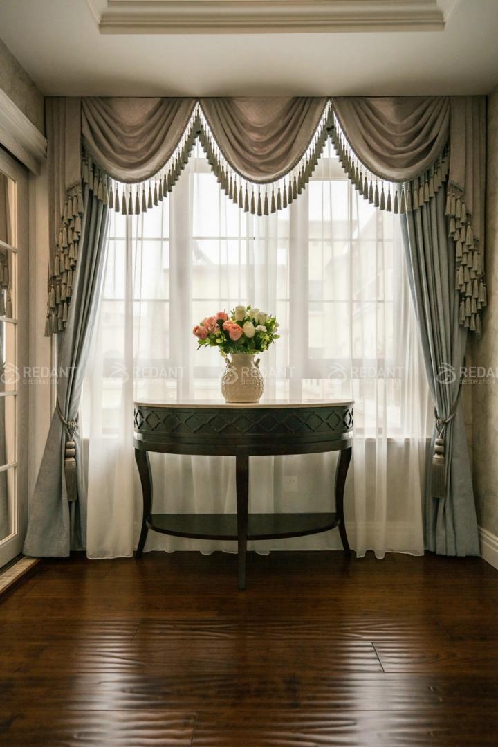 晴碧园联排别墅现代美式风格实景欣赏图片