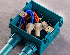 暗盒内并线使用美国理想接线器