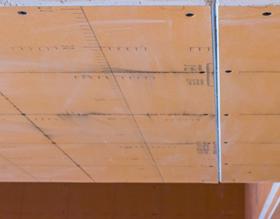 石膏板十字弹线施工
