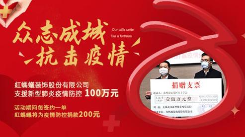 红蚂蚁装饰集团为支援疫情防控捐款100万元