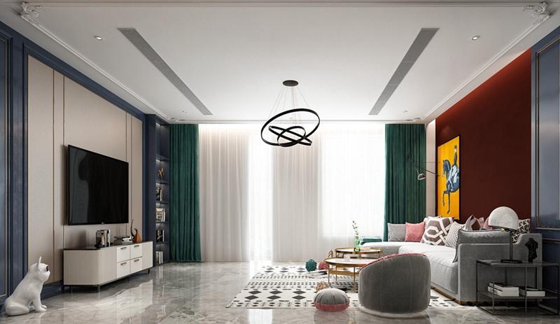 客厅一抹橙,立刻提升空间的视觉与品质!