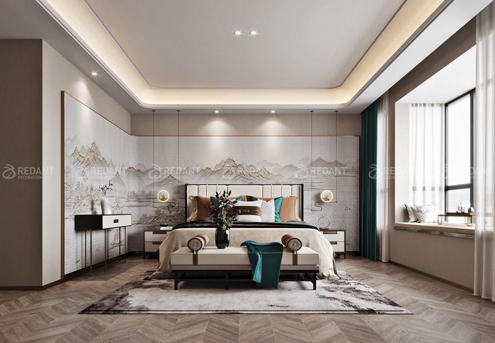 金科王府600㎡中式轻奢风格独栋别墅装修案例
