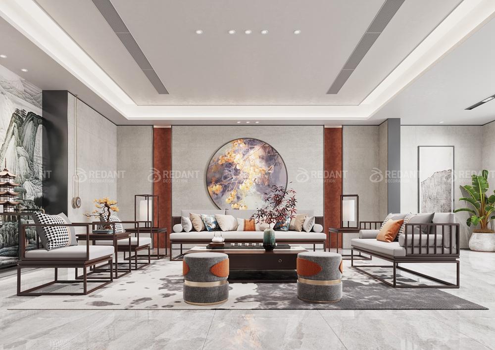 太湖城 | 270㎡新中式风格大平层万博物联官方苹果版下载案例