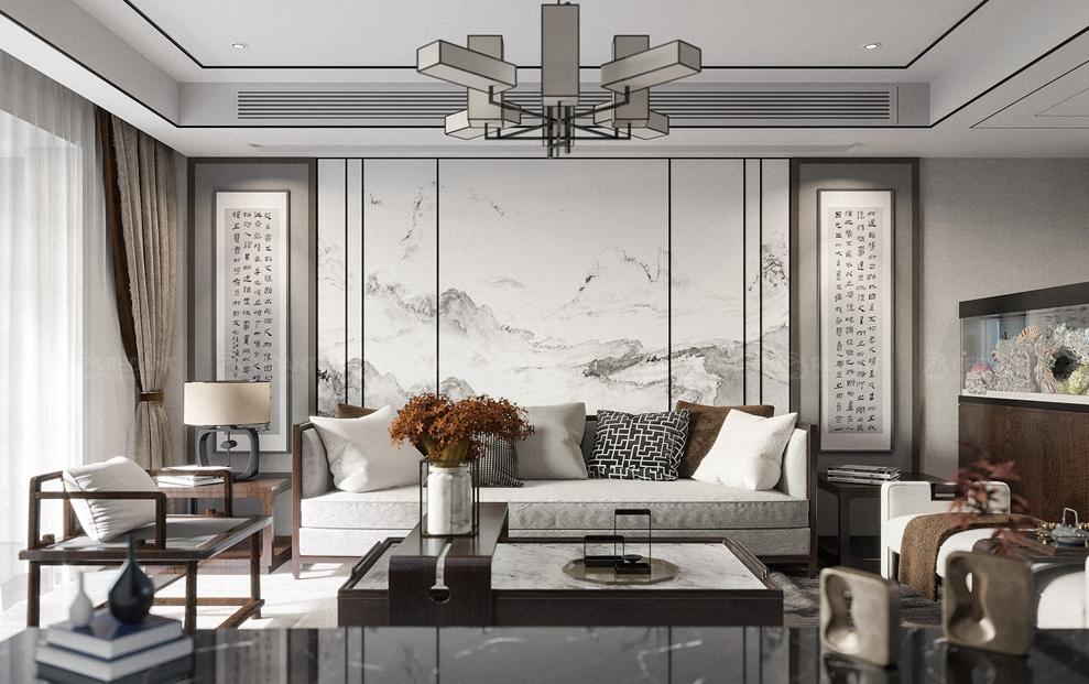 鲁能公馆 | 150平新中式风格装饰
