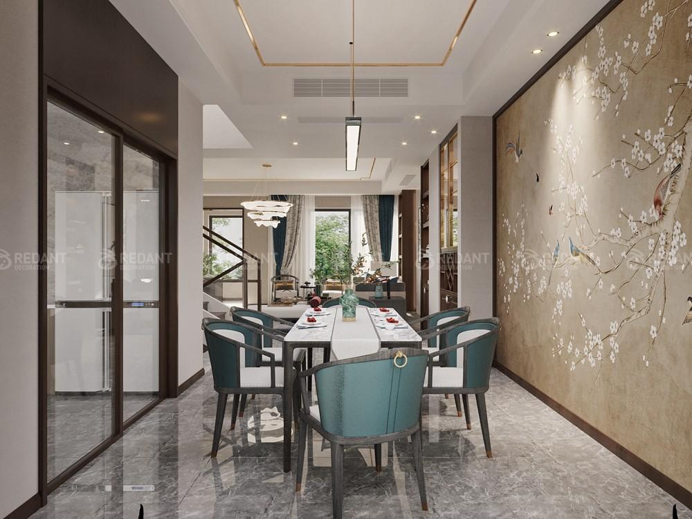 馨泓花园280㎡新中式风格别墅装修效果图